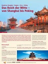 Das Reich der Mitte – von Shanghai bis Peking