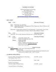 Curriculum Vitae - John Jay College Of Criminal Justice - CUNY