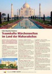 Traumhafte Märchenwelten im Land der Maharadschas