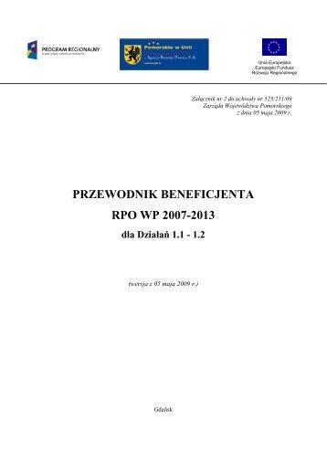 Przewodnik Beneficjenta RPO WP dla Działań 1.1-1.2 - Agencja ...