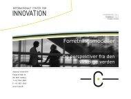 Forretningsmodeller - Innovation X