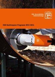 FEIN Hochfrequenz-Programm 2012 / 2013. - C. & E. FEIN Gmbh