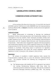 Legislative Council Brief - Communications Authority Bill