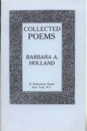 Collected Poems, Vol. 1 - Poet's Press