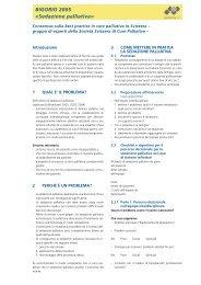 BIGORIO 2005 «Sedazione palliativa» - Palliative ch