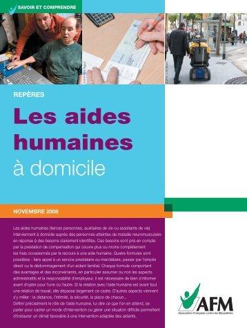 Les aides humaines à domicile - Institut de Myologie