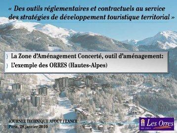 La Zone d'Aménagement Concerté, outil d ... - Atout France