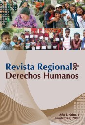 Año I, Número 1 REVISTA REGIONAL DE DERECHOS HUMANOS