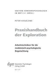 Praxishandbuch der Exploration - Deutscher Psychologen Verlag ...