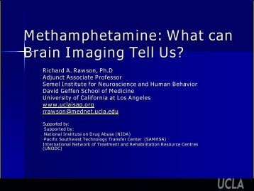 Methamphetamine - UCLA Integrated Substance Abuse Programs