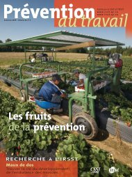 Les fruits de la prévention Les fruits de la prévention - CSST
