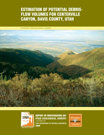 Estimation of potential debris-flow volumes for Centerville Canyon ...