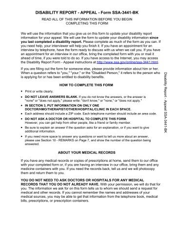 Childhood Disability Evaluation Form SsaF  Social Security