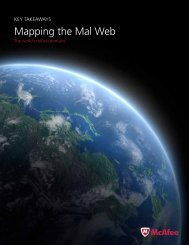 Mapping the Mal Web report - McAfee