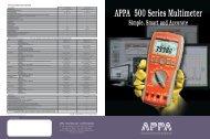 APPA 500 Series Digit Multimeter