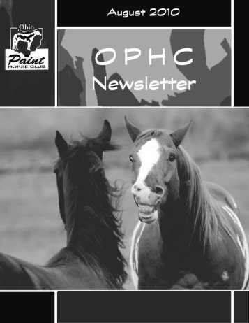 newsletter august 2010.pdf - Ohio Paint Horse Club