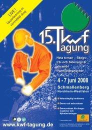 4 - 7 juni 2008 - KWF-Tagung