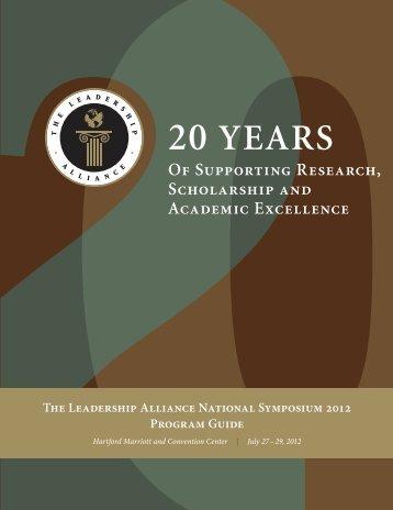 20 Years - The Leadership Alliance