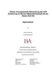 Konzeptionelle Betrachtung der SAP Einführung im ... - WWI 01 B