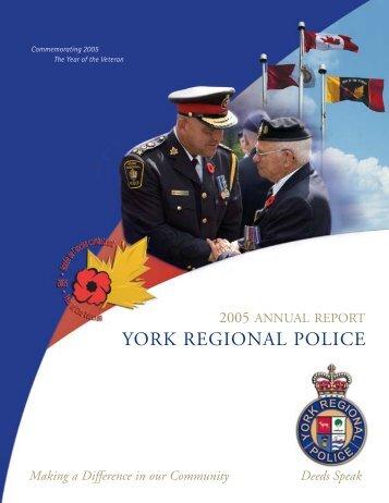 2005 Annual Report - York Regional Police