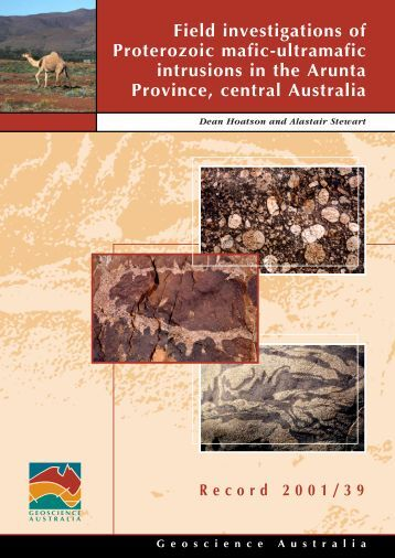 Central group of intrusions - Geoscience Australia