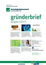 Newsletter April 2013 - Hochschulgründernetzwerk Sachsen-Anhalt ...