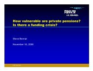 How vulnerable are private pensions? Is there a funding crisis?