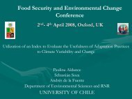 Food Security and Environmental Change Conference - Global ...