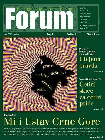 mart 2007. go di ne Broj 5 Go di na II Ci je na 1 eur ...