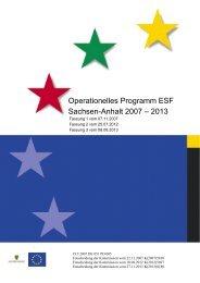 Operationelles Programm ESF Sachsen-Anhalt 2007 – 2013