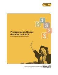 Programme de Bourse d'études de l'ACS - Canadian Parking ...