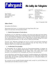 Offene Punkte - FAHRGAST Steiermark