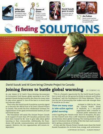 Finding Solutions Spring 2009 (PDF) - David Suzuki Foundation