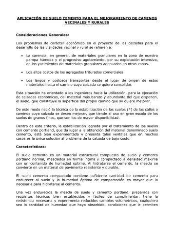 APLICACIÓN DE SUELO CEMENTO PARA EL ... - ICPA