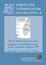 PD Dr. Robert Gramsch (Jena) - Verein für Thüringische Geschichte