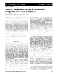 Transport Properties of Engineered Cementitious Composites Under ...