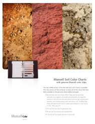 L10-412 soil_colorchart.indd - Munsell Color Store