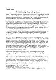 Motståndskraftiga Grupp A Streptokocker - IT - Lunds universitet