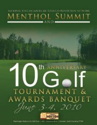 Menthol Summit & 10th Anniversary Golf Tournament and Awards ...