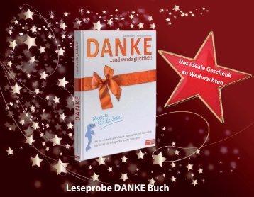 """Leseprobe zur Ansicht des """"DANKE und werde glücklich""""- Buch"""
