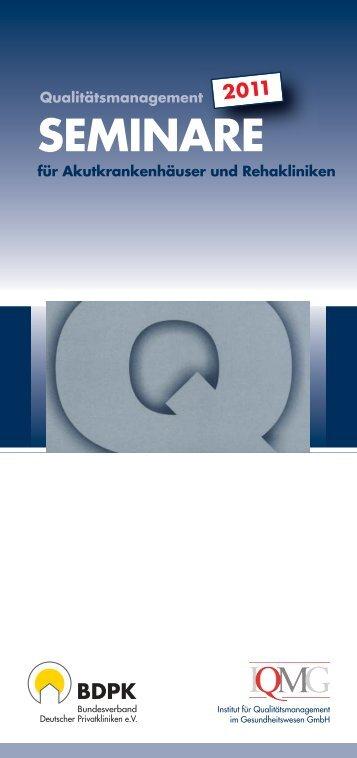 SEMINARE - IQMG Institut für Qualitätsmanagement im ...
