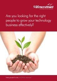 technology sector brochure - 9-20 Recruitment