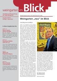 Ausgabe 0/2013 - Weingarten im Blick