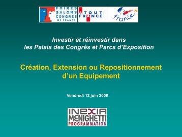 Création, extension ou repositionnement d'un d ... - Atout France