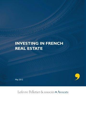 Various forms of real estate - Lefèvre Pelletier & associés