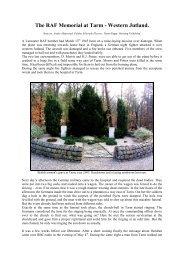 The RAF Memorial at Tarm - AirmenDK Allied Airmen - Allierede ...