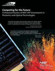 Competing for the Future: - NIST Advanced Technology Program ...