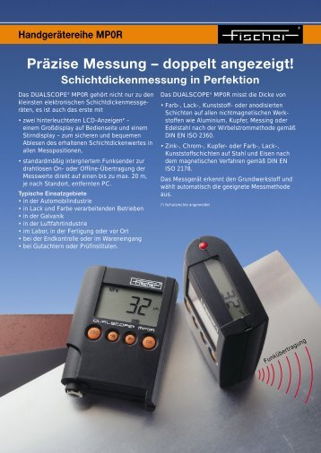 Präzise Messung – doppelt angezeigt! - Fischer Technology, Inc.