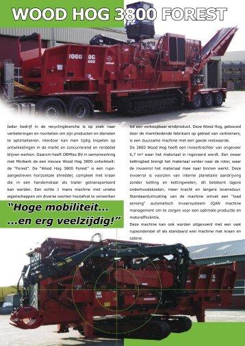 """""""Wood Hog 3800 Forest"""" folder - OBMtec BV"""