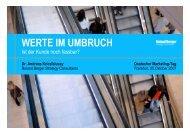 WERTE IM UMBRUCH - Roland Berger Strategy Consultants
